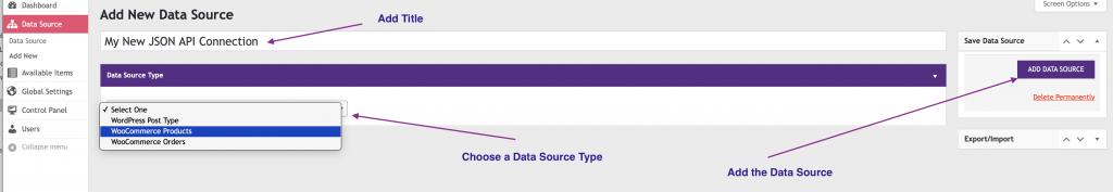 WP Data Sync Add New UI