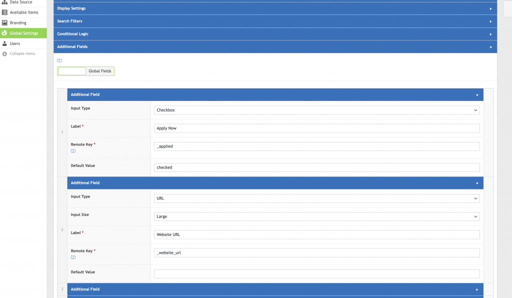 WP Data Sync Additional Fields UI