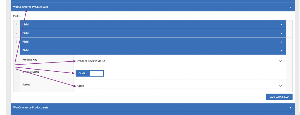 WP Data Sync Set product review status