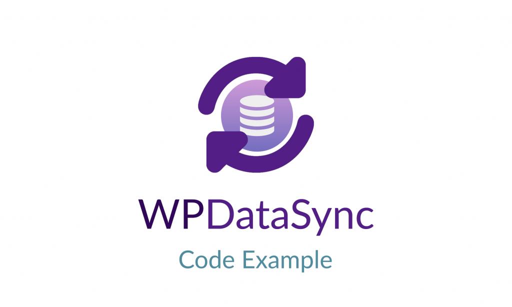 WP Data Sync Code Example